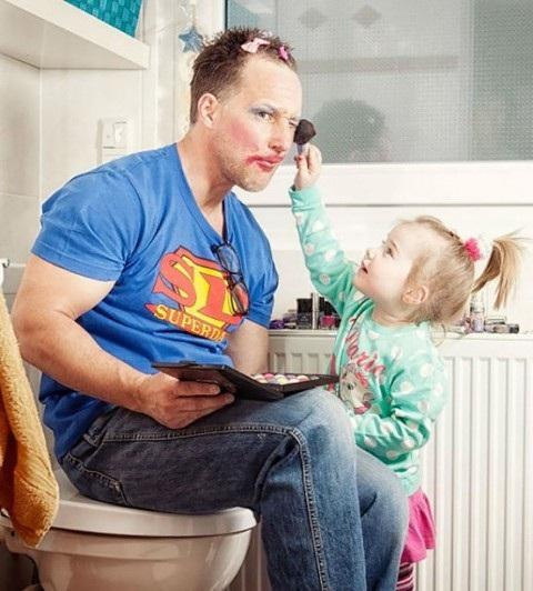 Những khoảnh khắc đáng ngưỡng mộ về bố và con gái - 4