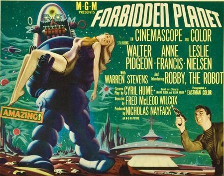 """Những thước phim """"Forbidden planet"""" từ năm 1956 đã dồi dào tưởng tượng về một thế giới của rô bốt và công nghệ, cùng với một phi hành đoàn thám hiểm ngoài hệ mặt trời. Nhiều kiệt tác sau này như """"Star Trek"""" và """"Lost in space"""" đều lấy cảm hứng từ chính bộ phim này."""