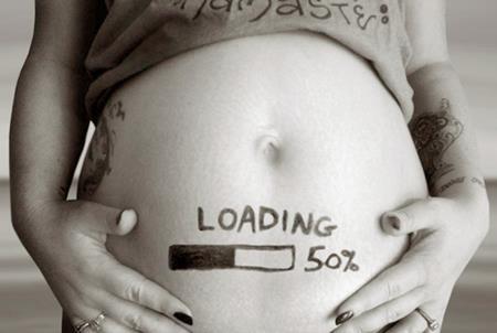 Mang thai được một nửa thời gian