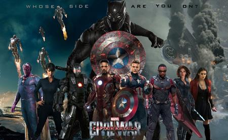 … trước đối thủ Captain America: Civil war