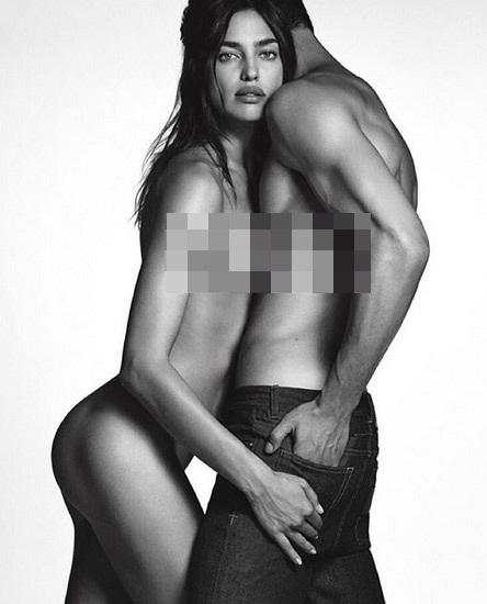 Irina Shayk, 30 tuổi, khoe thân táo bạo trong loạt ảnh quảng cáo mới.