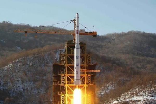 Vụ phóng vệ tinh Kwangmyongsong-4. (Ảnh: KCNA)