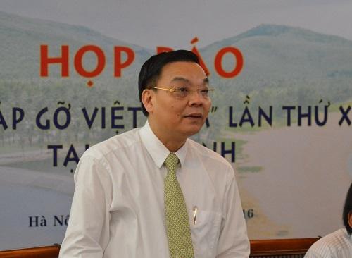Ông Chu Ngọc Anh - Bộ trưởng Bộ Khoa học và Công nghệ chia sẻ tại buổi họp báo