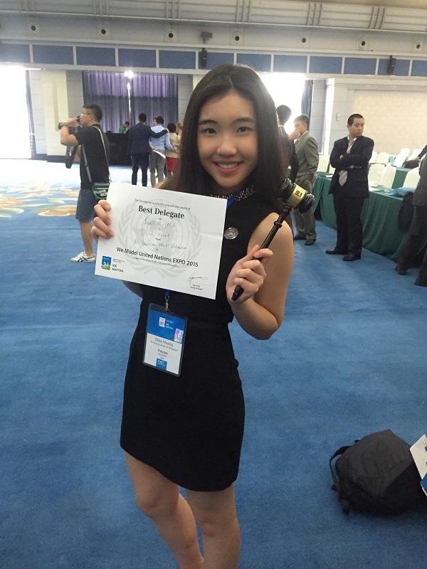 Phần thưởng đại biểu xuất sắc nhất tại WeMUN Bắc Kinh 2015 của Kiều Anh