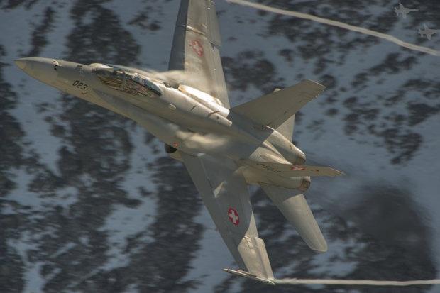Máy bay chiến đấu F/A-18C. (Ảnh: Không quân Thụy Sĩ)