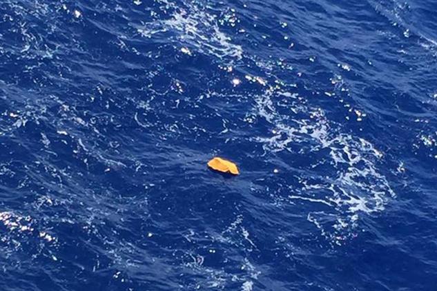 Vật thể trôi nổi ban đầu nghi là từ máy bay EgyptAir mất tích. (Ảnh: Independent)