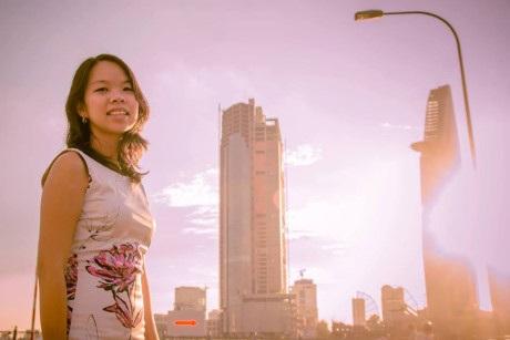 Ngọc Tú được chọn làm MC trong buổi gặp giữa Tổng thống Obama với người trẻ Việt xuất sắc hôm 25/5. (ảnh: Forbes)