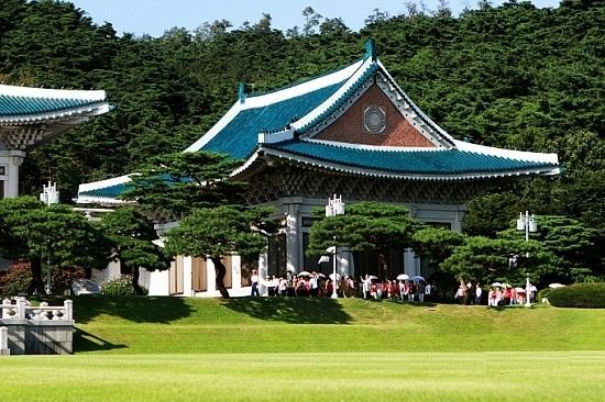 Trung tâm báo chí Chunchukwan, nơi tổ chức họp báo của Tổng thống