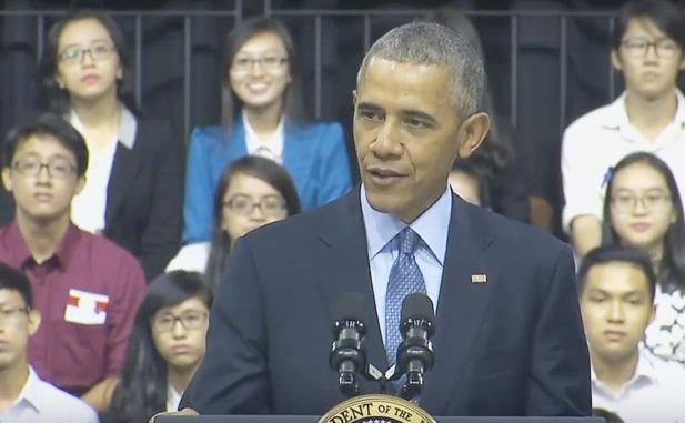Tổng thống Obama trò truyện cùng 800 thủ lĩnh trẻ tại TPHCM ngày 25/5