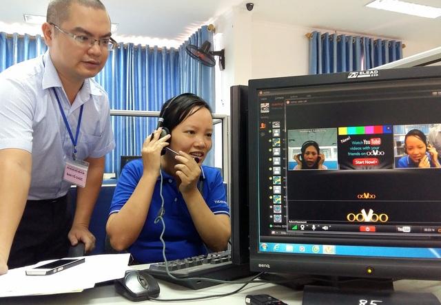 Phiên GDVL onlie lần 1 tổ chức tại TT DVVL Hà Nội tháng 5/2016.