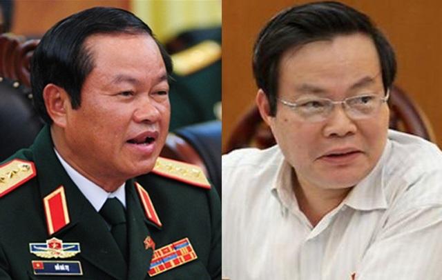 Hai tân Phó Chủ tịch Quốc hội, ông Đỗ Bá Tỵ (trái) và ông Phùng Quốc Hiển