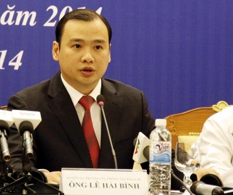 Người Phát ngôn Bộ Ngoại giao Việt Nam Lê Hải Bình (Ảnh: Quang Phong)