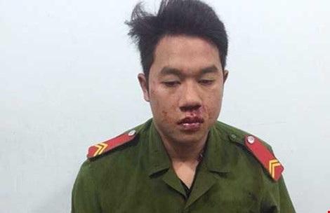 Phạm Văn Cường giả danh công an bị bắt giữ. Ảnh: TD