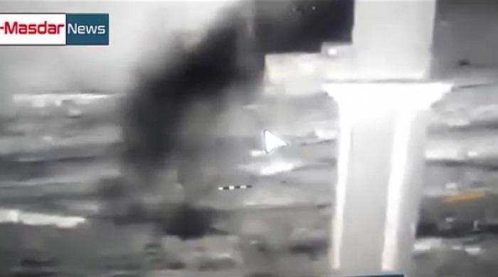 Quân đội Syria phục kích ở Kinsibba (Ảnh cắt từ clip)