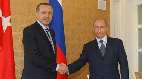 Tổng thống Thổ Nhĩ Kỳ Erdogan và Tổng thống Putin trong một lần gặp.