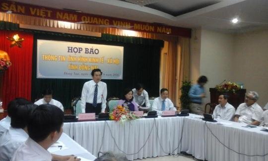 Ông Võ Văn Chánh, công bố thông tin về việc một đơn vị trong phân khu KCN Formosa có dấu hiệu xả thải chưa qua xử lý trong khuôn viên