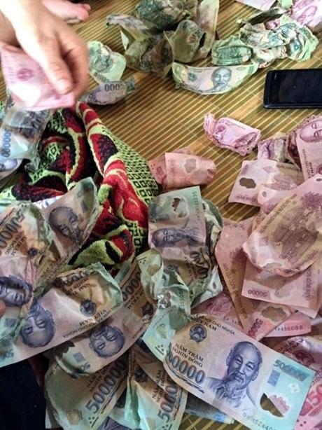 30 triệu đồng đã bị hỏng vì sấy. (Ảnh: NVCC).