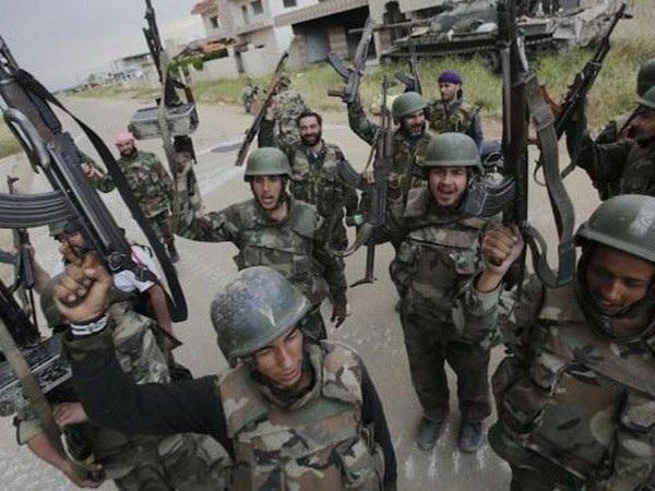Quân chính phủ Syria. (Nguồn: alalam.ir)
