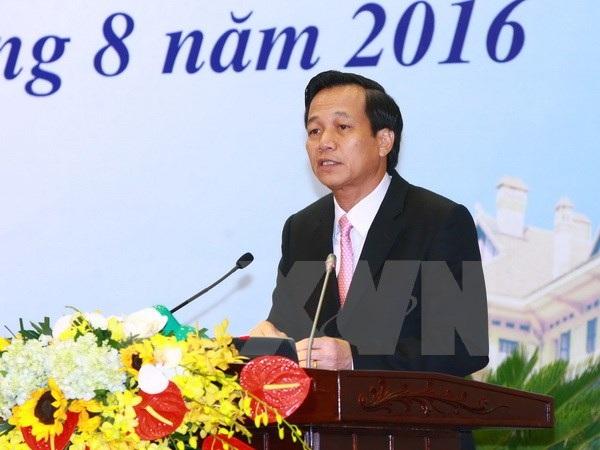 Bộ trưởng Bộ Lao động, Thương binh và Xã hội Đào Ngọc Dung. (Ảnh: Doãn Tấn/TTXVN)