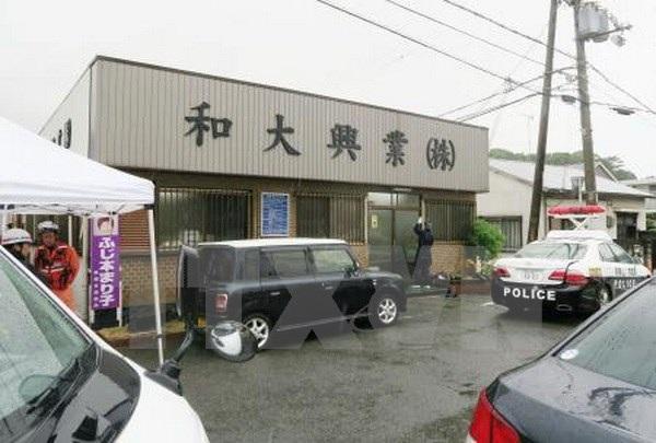 Công ty xây dựng ở Wakayama, nơi xảy ra vụ xả súng. (Nguồn: Kyodo/TTXVN)