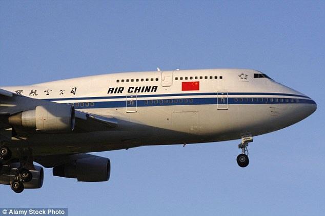 Sự việc xảy ra trên chuyến bay của của hãng hàng không Air China.