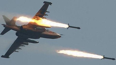 Su-25 Ukraine tập tấn công mặt đất (Ảnh minh họa)