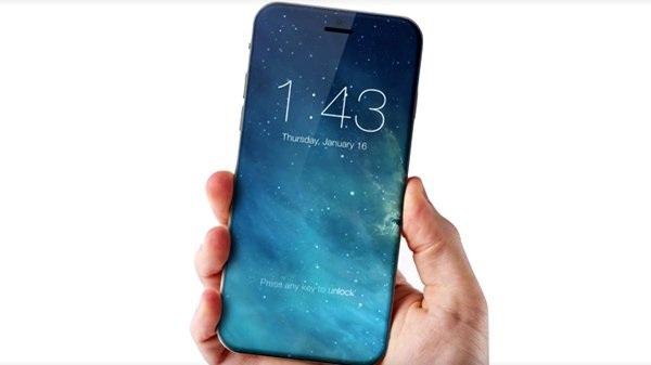 Một mẫu iPhone có màn hình tràn cạnh.
