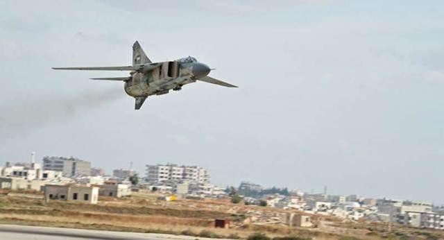 MiG-23 của Không quân Syria tại Aleppo