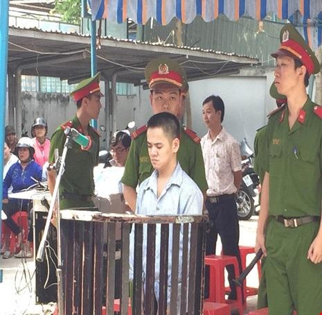 Bị cáo Lương Văn Hải tại phiên tòa. Ảnh: Hoàng Yến.
