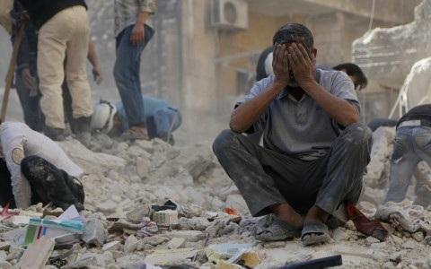 Chiến sự tại Syria đã đem lại quá nhiều đau thương mất mát cho người dân tại quốc gia Trung Đông này. Ảnh: AP