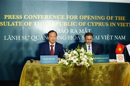 Ngày 6/4/2016 Cộng Hòa Síp chính thức ra mắt lãnh sự quán tại Việt Nam