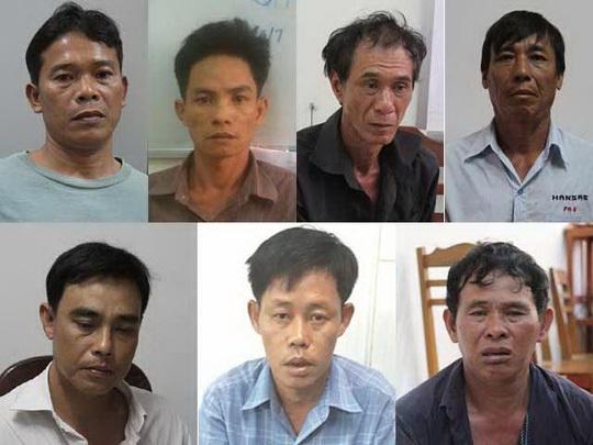 Bảy đối tượng trong băng trộm tiệm vàng vừa bị Công an TP Cần Thơ bắt giữ (Ảnh do cơ quan điều tra cung cấp)