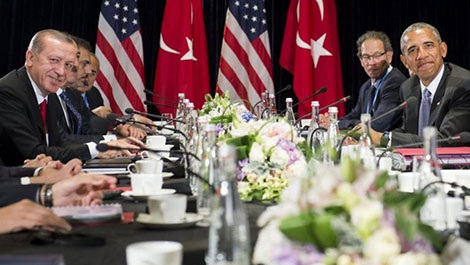 Cuộc gặp bên lề Hội nghị thượng đỉnh G20 giữa Tổng thống Thổ Nhĩ Kỳ Recep Erdogan và đồng nhiệm Mỹ Barack Obama ngày 4-9.