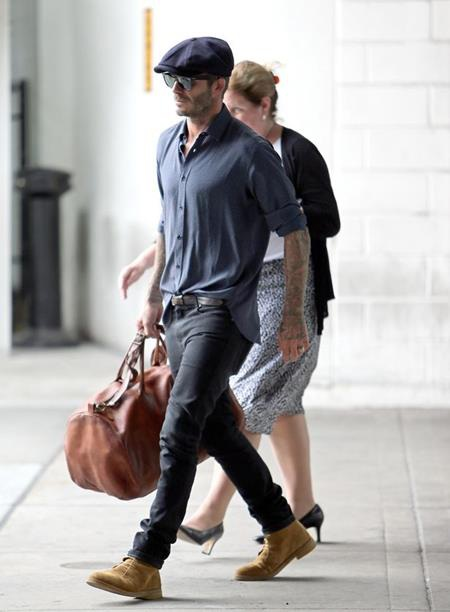 David Beckham vừa bay sang Mỹ thăm vợ