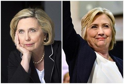 Nhiều người lầm tưởng bà Barnwell và bà Clinton (phải) là chị em sinh đôi
