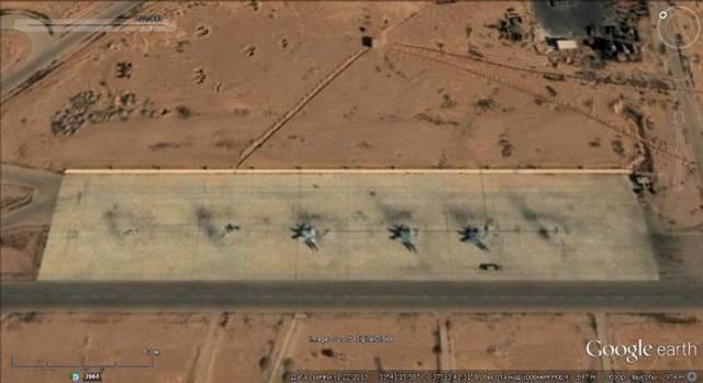 Ảnh Google earth: các máy bay tiêm kích MiG-29 Syria trên sân bay gần Damascus