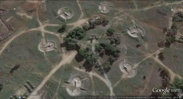 Ảnh Google earth: trận địa tên lửa phòng không S-75 ở ngoại ô Tartus