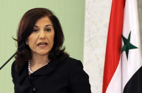 Bà Buseina Shaaban - Cố vấn của Tổng thống Syria Bashar al-Assad. Ảnh: Ekspertai