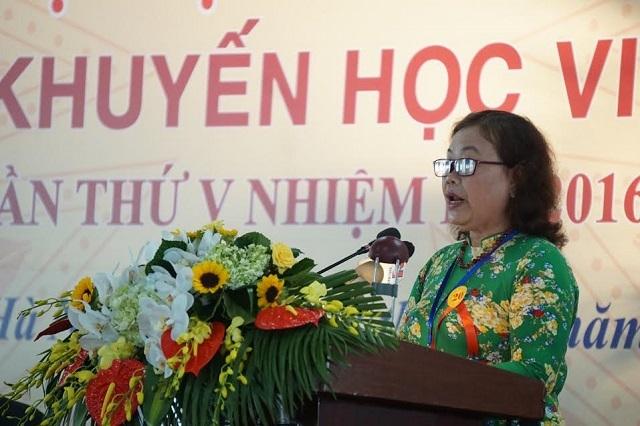 Đại biểu Nguyễn Thị Hồng Vân – Chủ tịch Hội Khuyến học tỉnh Quảng Trị