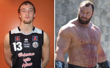 """Young Hafþór Júlíus Björnsson thì hoàn toàn lột xác khi đóng """"Trò chơi vương quyền"""""""