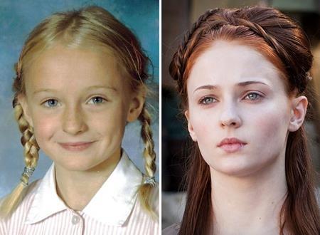 Với mái tóc vàng óng tự nhiên, Sophie Turner đã phải nhuộm sang màu nâu đỏ khi hóa thân thành nhân vật Sansa Stark