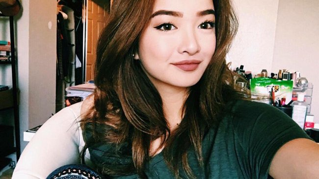 Gương mặt xinh đẹp có nét rất Tây của Kaity Nguyễn khiến dân mạng chú ý.