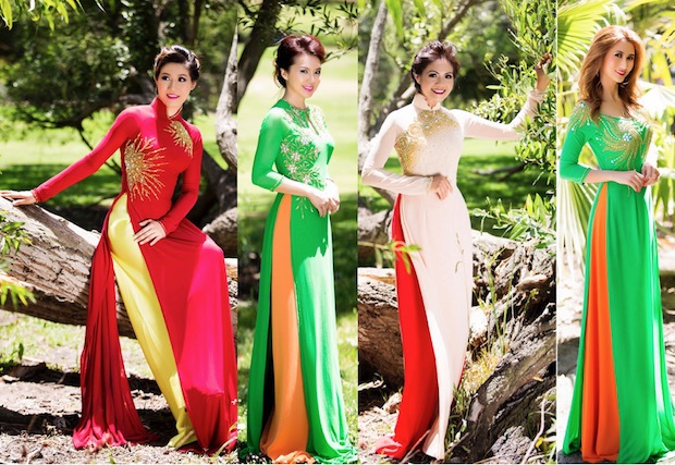 Là phụ nữ gốc Việt, ai cũng tự hào mang trên mình tà áo dài truyền thống của Việt Nam