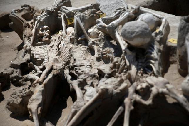 80 bộ xương được tìm thấy tại nghĩa địa cổ đại Falyron Delta