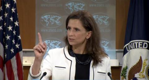 Phát ngôn viên Bộ Ngoại giao Mỹ Elizabeth Trudeau. Ảnh: Bộ Ngoại giao Mỹ