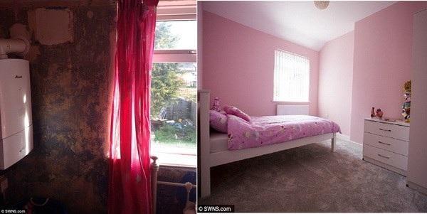 Phòng ngủ đã biến đổi hoàn toàn. (Nguồn: Dailymail)