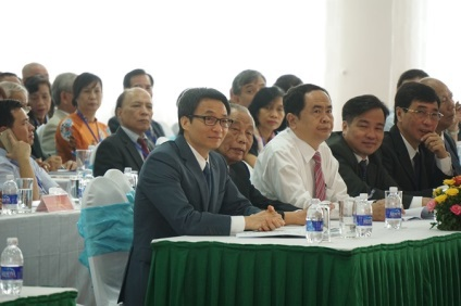 Phó Thủ tướng Vũ Đức Đam và các đại biểu tới dự đại hội (Ảnh: Hữu Nghị)