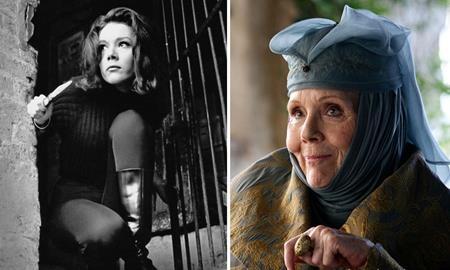 """Vào những năm 60 của thế kỷ trước, Diana Rigg là một trong những bóng hồng cực kỳ nổi tiếng của """"Biệt đội siêu anh hùng"""". Còn ở thời điểm hiện tại, nữ diễn viên cũng đang có một màn hóa thân xuất sắc thành Olenna Tyrrel trong """"Trò chơi vương quyền""""."""