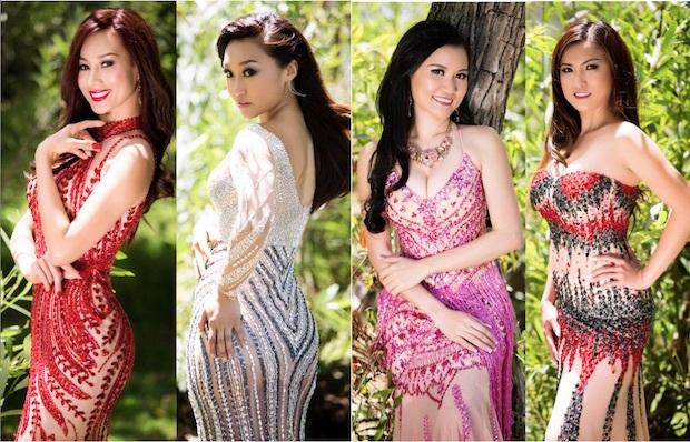 Các thí sinh quyến rũ, gợi cảm trong trang phục dạ hội của NTK Sơn Collection