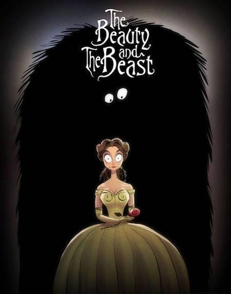 Người đẹp Bella khó mà có thể phải lòng một quái thú có bộ dạng đáng sợ như thế này